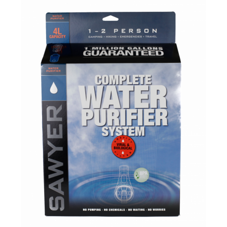 Complete 4 Liter Gravity Water Purification System