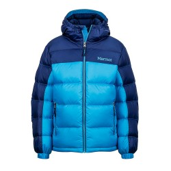 Boys Guides Down Hoody Bahama blue Arctic navy