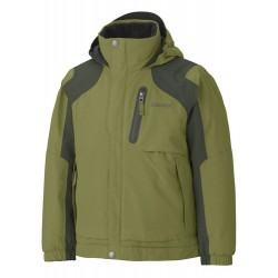 Boys Morzine Insulated Jacket Forest Fatigue