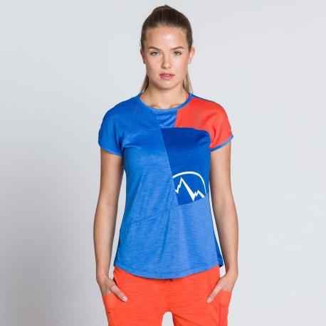 Push T-Shirt W Cobalt blue Lily orange