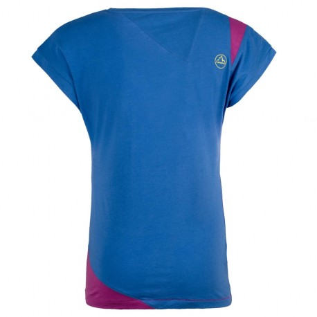 Shorten T-Shirt W Cobalt blue