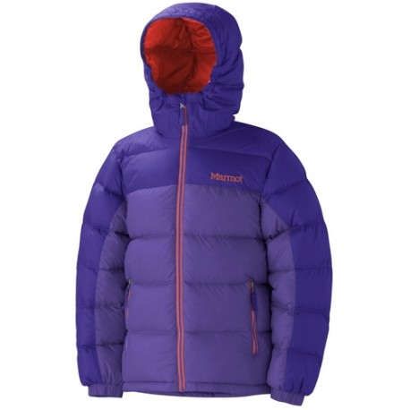 Girls Guides Down Hoody Ultra violet Electric purple